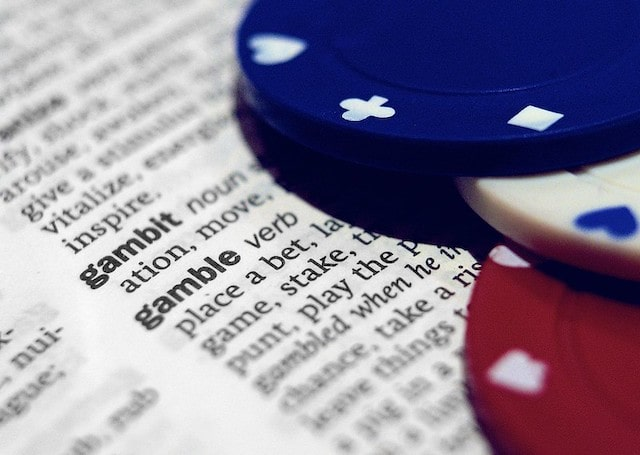 dictionary on the word gamble