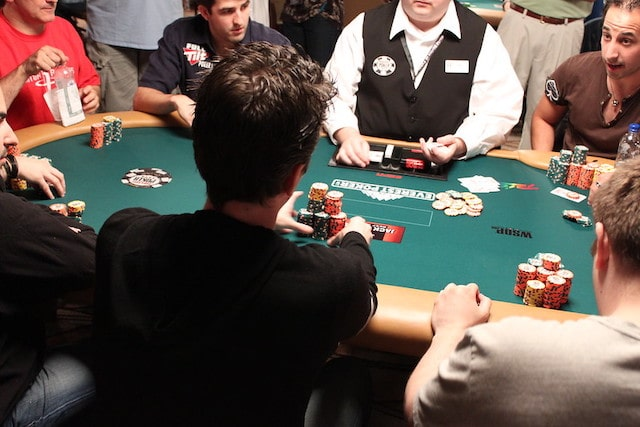 a poker player who pushed chips